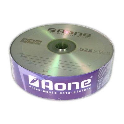 Aone CD-R 52X Speed Discs 25 Pack Media