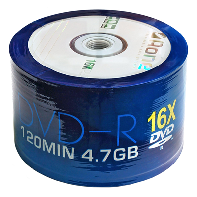 Aone DVD-R Printable 16X Speed Discs 50 Pack Media