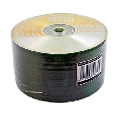 Arita CD-R 52X Speed Discs 50 Pack Media