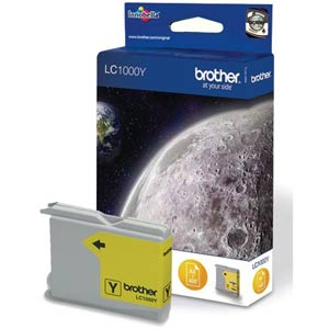 LC1000Y - Brother Yellow  Original Inkjet Cartridge