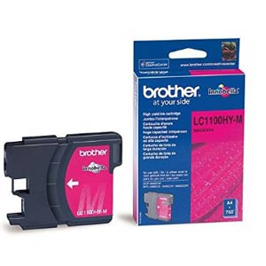 LC1100HYM - Brother Magenta High Capacity Original Inkjet Cartridge