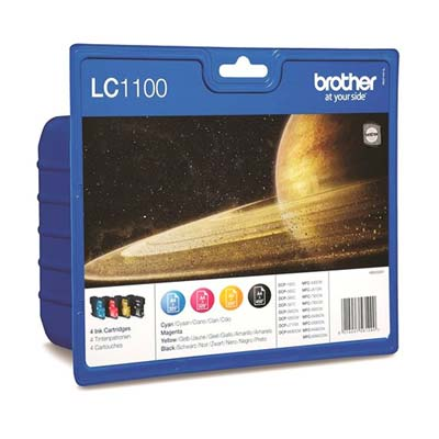 LC1100 Multipack - Set of 4  Brother  Original Inkjet Cartridges