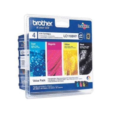 LC1100HY Multipack - Set of 4  Brother High Capacity Original Inkjet Cartridges