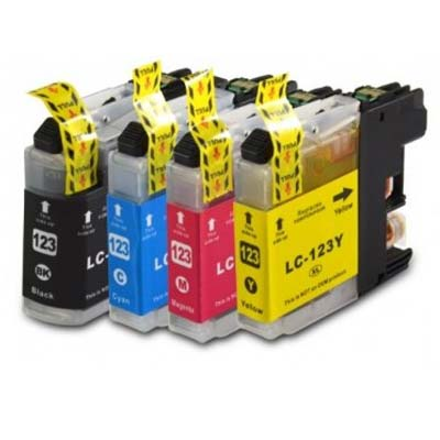 LC123 Multipack - Set of 4  Brother   Compatible Inkjet Cartridges