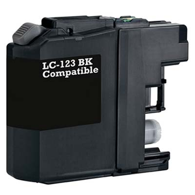 LC123BK - Brother Black   Compatible Inkjet Cartridge
