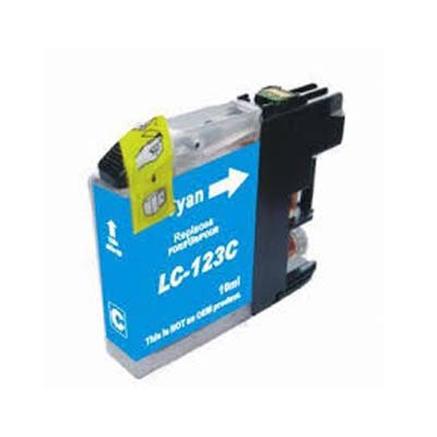 LC123C - Brother Cyan   Compatible Inkjet Cartridge