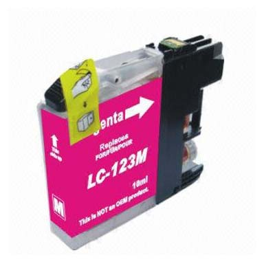 LC123M - Brother Magenta   Compatible Inkjet Cartridge