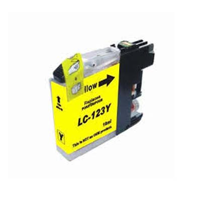LC123Y - Brother Yellow   Compatible Inkjet Cartridge