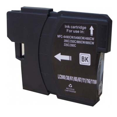 LC980BK - Brother Black  High Capacity Compatible Inkjet Cartridge
