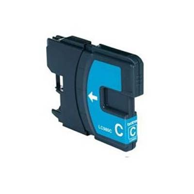 LC980C - Brother Cyan  High Capacity Compatible Inkjet Cartridge