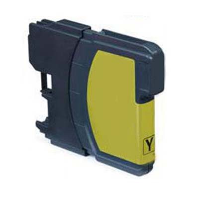 LC980Y - Brother Yellow  High Capacity Compatible Inkjet Cartridge