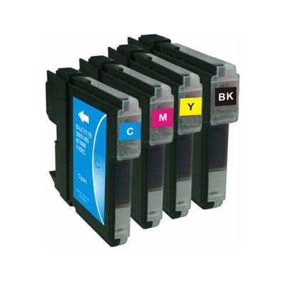 LC985 Multipack - Set of 4  Brother High Capacity Compatible Inkjet Cartridges