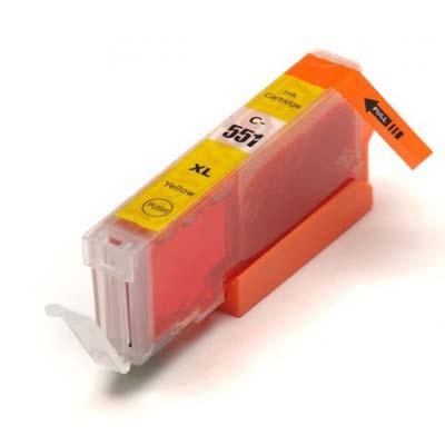 CLI-551YXL - Canon Yellow  High Capacity Compatible Inkjet Cartridge