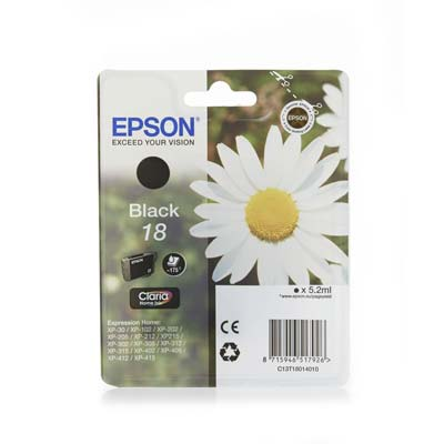 18 T1801 - Epson Black   Original Inkjet Cartridge