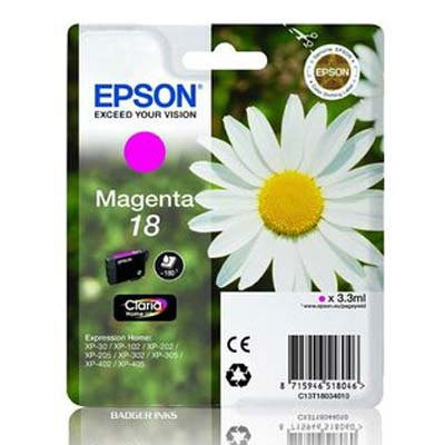 18 T1803 - Epson Magenta   Original Inkjet Cartridge