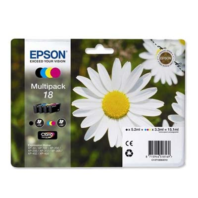 18 (T1806) Multipack - Set of 4  Epson   Original Inkjet Cartridges