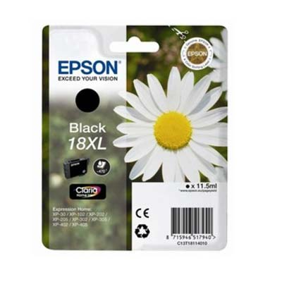 18XL T1811 - Epson Black  High Capacity Original Inkjet Cartridge