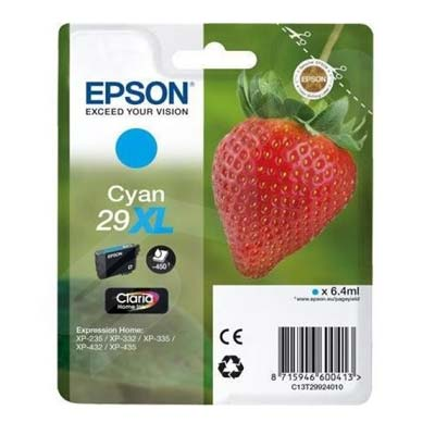 29XL T2992 - Epson Cyan  High Capacity Original Inkjet Cartridge