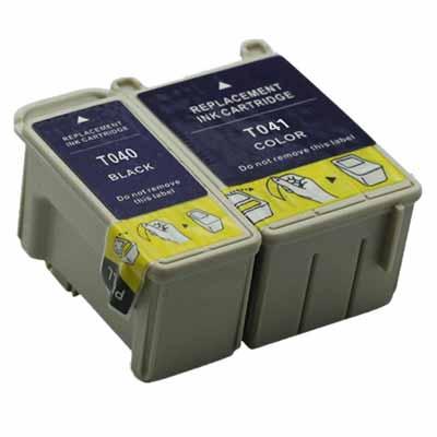 T040 T041 - Set of 2  Epson  Compatible Inkjet Cartridges