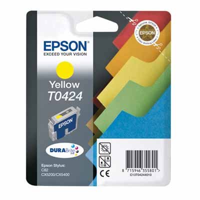 T0424 - Epson Yellow  Original Inkjet Cartridge