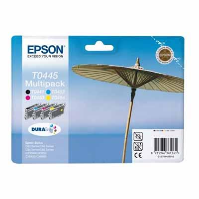 T0445 - Set of 4  Epson   Original Inkjet Cartridges