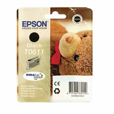 T0611 - Epson Black  Original Inkjet Cartridge