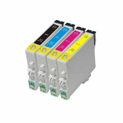 T0715 - Set of 4  Epson   Compatible Inkjet Cartridges