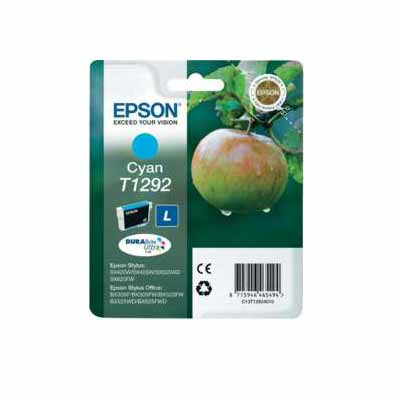 T1292 - Epson Cyan High Capacity Original Inkjet Cartridge