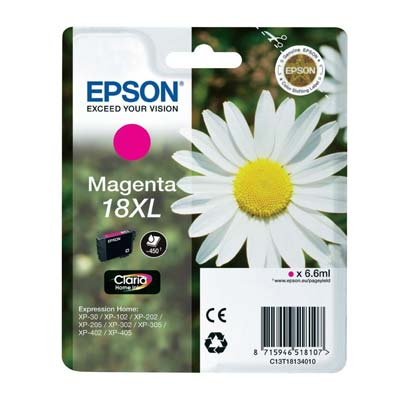 18XL T1813 - Epson Magenta  High Capacity Original Inkjet Cartridge