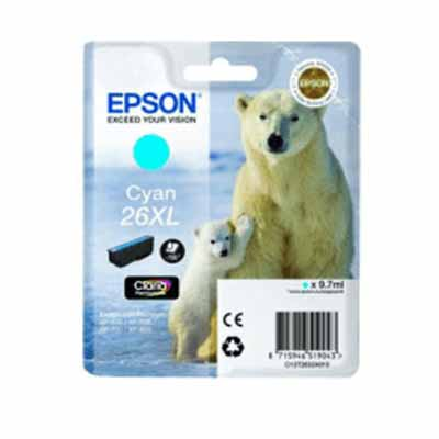 T2632 (26XL) - Epson Cyan High Capacity Original Inkjet Cartridge