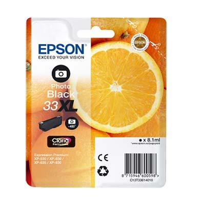 33XL (T3361) - Epson Photo Black High Capacity Original Inkjet Cartridge