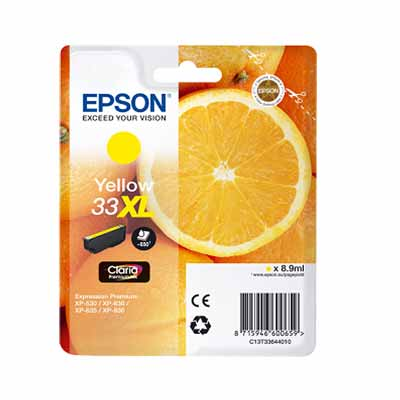 33XL (T3364) - Epson Yellow High Capacity Original Inkjet Cartridge