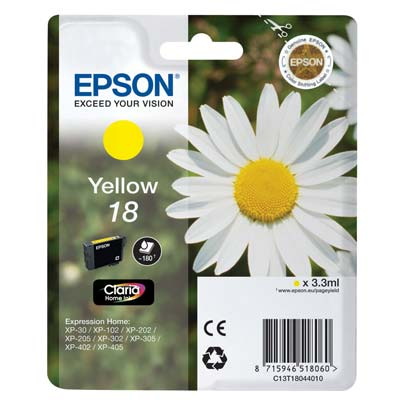 18 T1804 - Epson Yellow   Original Inkjet Cartridge