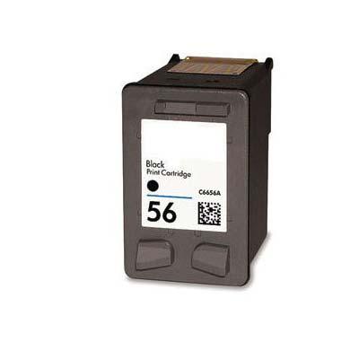 56 (C6656AE) - HP Black  Remanufactured Inkjet Cartridge