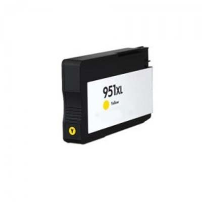 951XL - HP Yellow  High Capacity Compatible Inkjet Cartridge