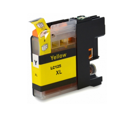LC125XL - Brother Yellow  High Capacity Compatible Inkjet Cartridge