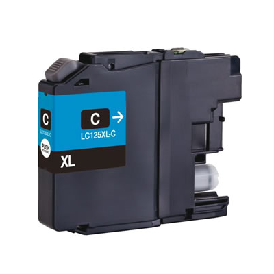 LC125XLC - Brother Cyan  High Capacity Compatible Inkjet Cartridge