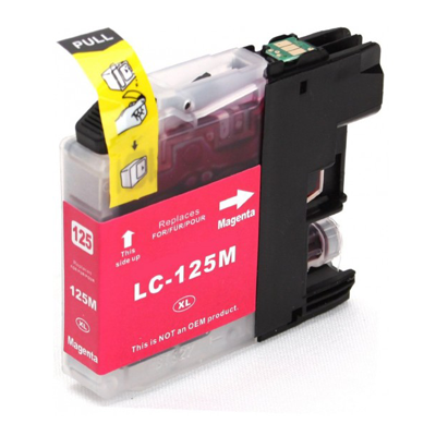 LC125XLM - Brother Magenta  High Capacity Compatible Inkjet Cartridge