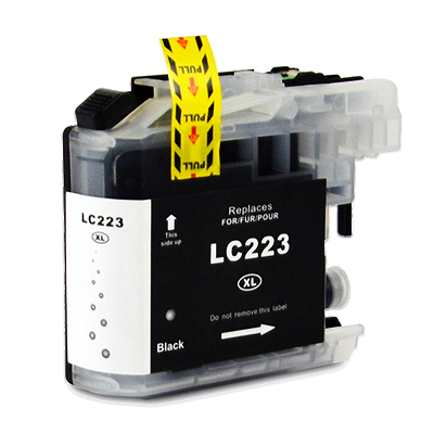 LC223BK - Brother Black   Compatible Inkjet Cartridge