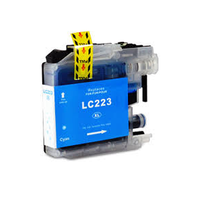 LC223C - Brother Cyan   Compatible Inkjet Cartridge