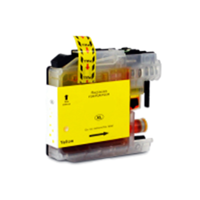 LC225XLY - Brother Yellow  High Capacity Compatible Inkjet Cartridge