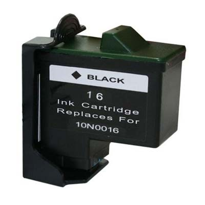 10N0016 (16) - Lexmark Black  Remanufactured Inkjet Cartridge