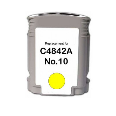 No 10 - HP Yellow  Compatible Inkjet Cartridge