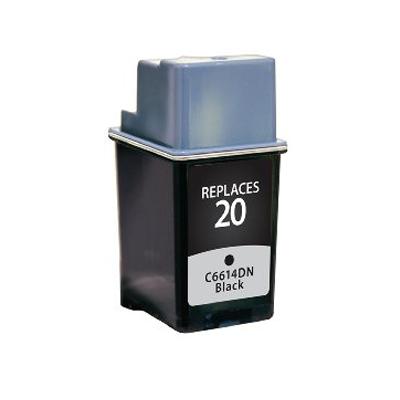 No 20 - HP Black  Remanufactured Inkjet Cartridge