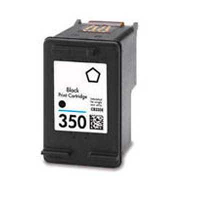 350 CB335EE - HP Black   Remanufactured Inkjet Cartridge