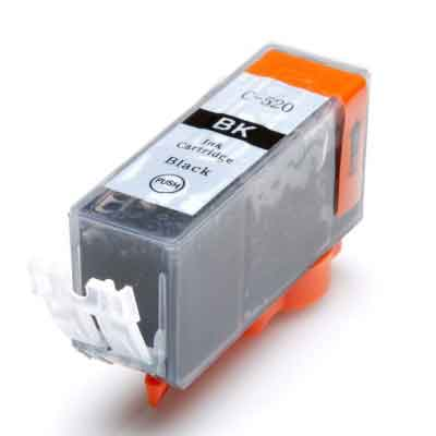 PGI-520BK - Canon Black   Compatible Inkjet Cartridge