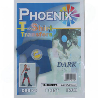 Phoenix Dark T-Shirt Transfers Paper - 10 Pack