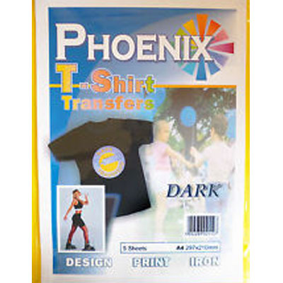 Phoenix Dark T-Shirt Transfers Paper - 5 Pack