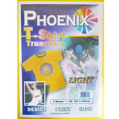 Phoenix Light T-Shirt Transfers Paper - 5 Pack