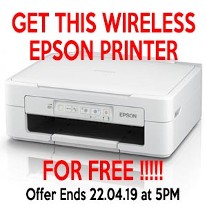 Epson X245 Wireless Printer for Free